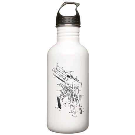 1911 Diagram Stainless Water Bottle 1.0L