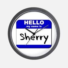 hello my name is sherry  Wall Clock