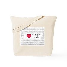 I Love Tap Tote Bag