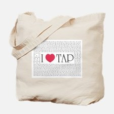 I Love Tap Tote Bag