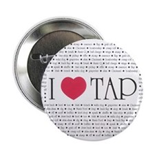 """I Love Tap 2.25"""" Button (10 pack)"""