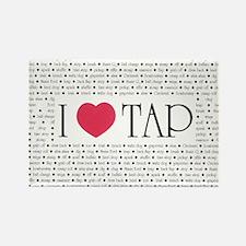 I Love Tap Rectangle Magnet (10 pack)