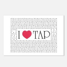 I Love Tap Postcards (Package of 8)