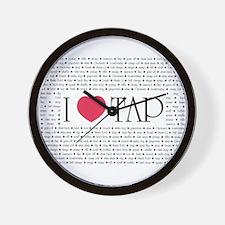 I Love Tap Wall Clock