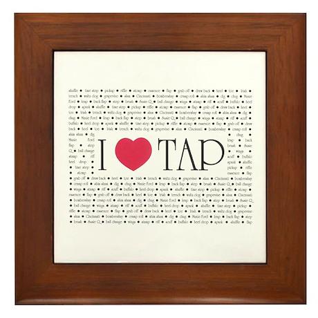 I Love Tap Framed Tile