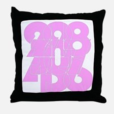 sg_cnumber Throw Pillow