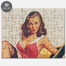Classic Elvgren 1950s Vintage Pin Up Girl Puzzle