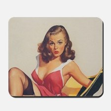 Classic Elvgren 1950s Vintage Pin Up Gir Mousepad