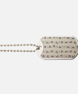 Sex Notations Music Dog Tags