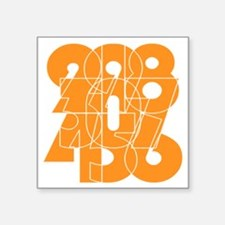 "wt_cnumber Square Sticker 3"" x 3"""