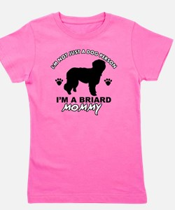 Briard mommy designs Girl's Tee