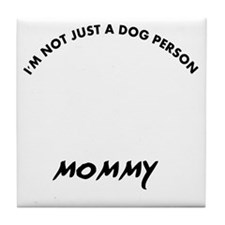 Clumber Spaniel mommy designs Tile Coaster