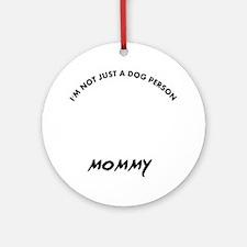 Briard mommy designs Round Ornament