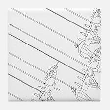 fencing design6-2 Tile Coaster