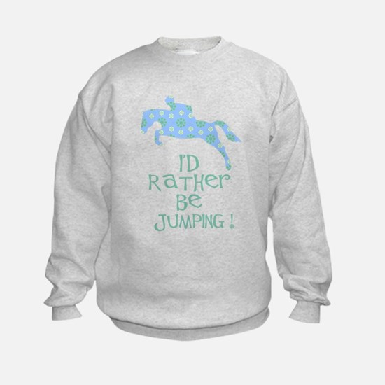 rather be jumping blue tr Sweatshirt