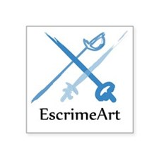"escrimeart Logo Square Sticker 3"" x 3"""