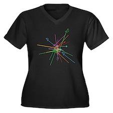 weapon scatt Women's Plus Size Dark V-Neck T-Shirt