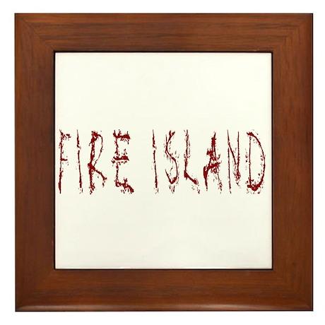 Fire Island Framed Tile