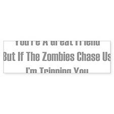 zombiesChaseUs1D Bumper Sticker