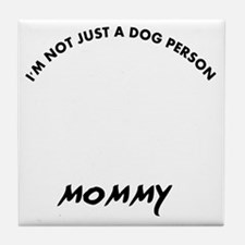 Canaan Dog mommy designs Tile Coaster