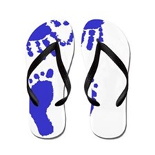 Baby boy love hand and footprint Flip Flops