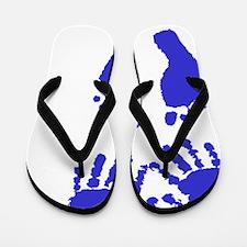 Baby boy love hand and footprint Flip Flops