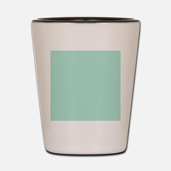 Cute Mint Green Polka Dot Shot Glass