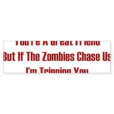 zombiesChaseUs1C Bumper Sticker