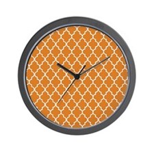 Moroccan Orange Wall Clock