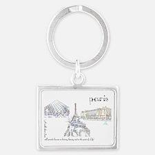paris (wide) Landscape Keychain