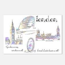 London (wide) Postcards (Package of 8)