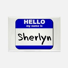 hello my name is sherlyn Rectangle Magnet