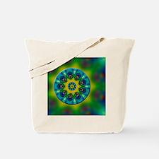 Rainbow Mandala Fractal Art Tote Bag