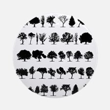 Tree Shapes Round Ornament