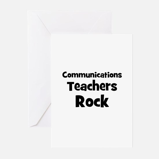 Communications Teachers Rock Greeting Cards (Packa