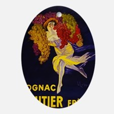 Cognac French Liqueur Poster Oval Ornament