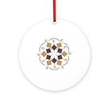 Smore Snowflake Round Ornament