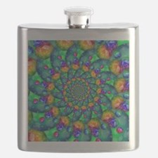 Rainbow Turquoise Fractal Flask