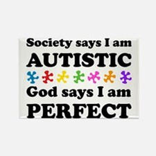 Autistic=Perfect Rectangle Magnet