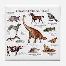 Texas State Animals Tile Coaster