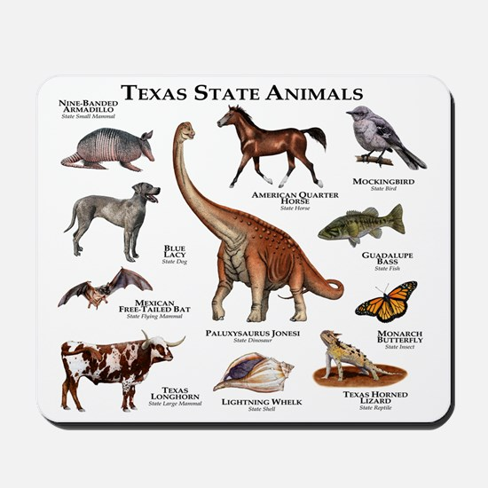 Texas State Animals Mousepad