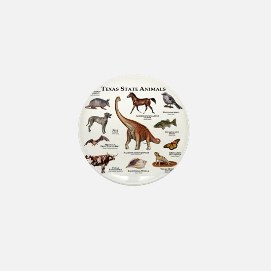 Texas State Animals Mini Button