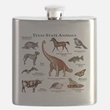 Texas State Animals Flask