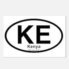KE - Kenya oval Postcards (Package of 8)