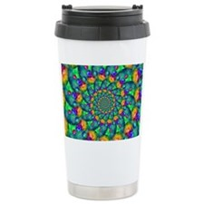 Rainbow Turquoise Fract Travel Mug