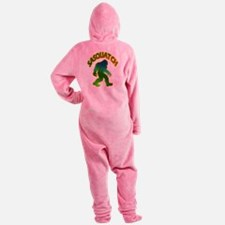 Sasquatch Forest Scene Footed Pajamas