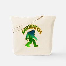 Sasquatch Forest Scene Tote Bag