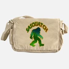 Sasquatch Forest Scene Messenger Bag