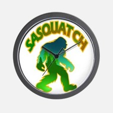 Sasquatch Forest Scene Wall Clock