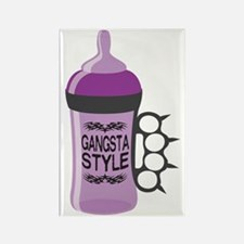 gangsta bottle purple Rectangle Magnet